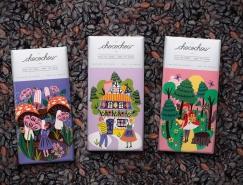 童话风格插画的巧克力包装皇冠新2网
