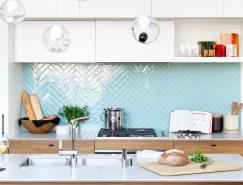 9个超棒的厨房几何形瓷砖铺贴