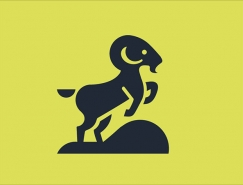 Martigny Matthieu负空间效果的动物logo图案设计