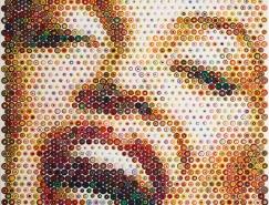 南非艺术家Gavin Rain创意点彩肖