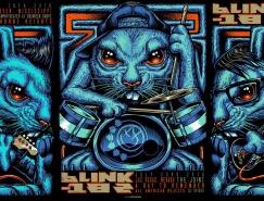 Munk One炫丽另类的演出海报设计