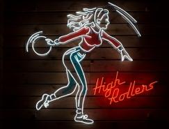 High Rollers保龄球馆视觉形象设计