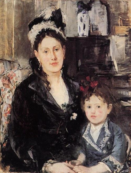 法国印象派著名女画家 Berthe Morisot 油画作品