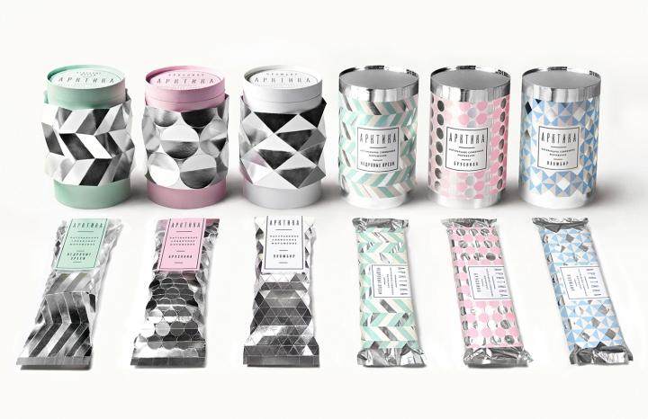 arktika创意冰淇淋包装设计图片