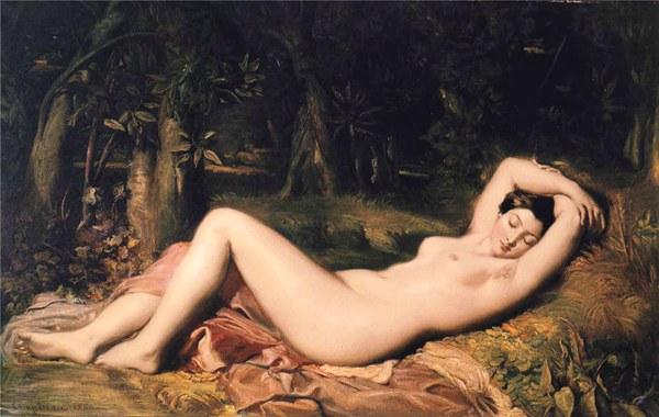 入睡的维纳斯 1850