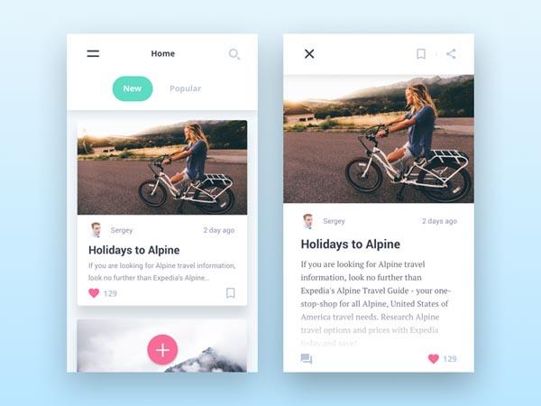 40个创意新闻app界面ui设计