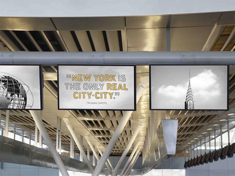 logo设计专用字体_肯尼迪国际机场4号航站楼新LOGO - 设计之家