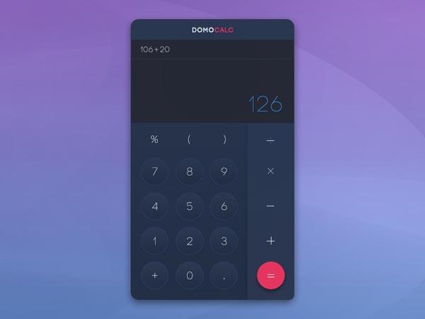 43个计算器APP界面UI设计