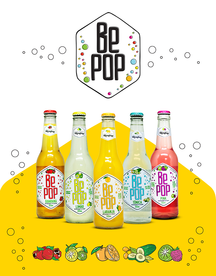 be pop果汁饮料包装设计