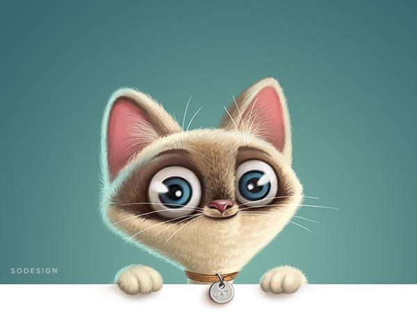 34个可爱猫咪插画欣赏(3)