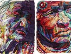 Yulia Brodskaya令人惊叹的纸艺肖像澳门金沙网址