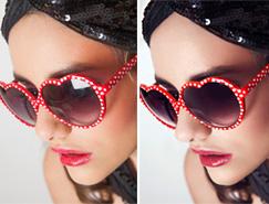 Photoshop精修带眼镜的人像