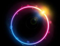 Photoshop制作绚丽的彩色光环