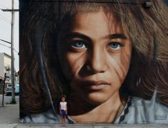 Jorit Agoch街头肖像壁画艺术作品