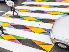 馬德裏街頭的彩色人行橫