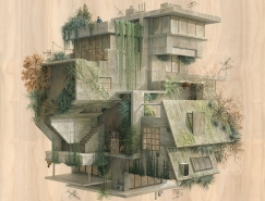 Cinta Vidal Agulló奇思妙想的建築插畫