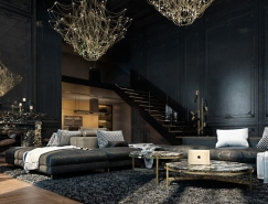 3个酷黑色风格家居装修设计