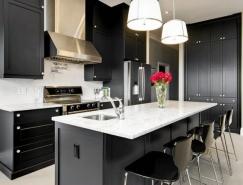 25个漂亮的沉稳大气黑色厨房设计