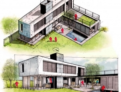 精致的铅笔和水彩速写:Neyra建筑插画欣赏