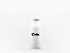 极简风格的Qoly牛奶包装设计