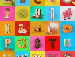 Cess创意3D食品字母