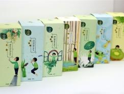 走心的小清新  三豆身体乳品牌插画设计欣赏