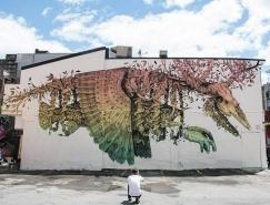 波多黎各艺术家Alexis Diaz街头壁画艺术