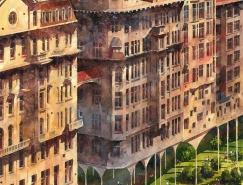 Tytus Brzozowski的奇幻城市插畫