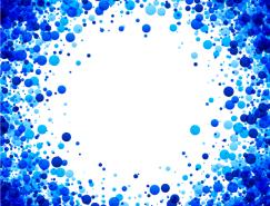 漂亮的藍色圓點背景矢量素材