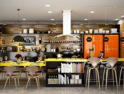 22个黄色主题厨房设计欣赏