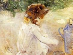 法国印象派女画家Berthe Morisot油画作品