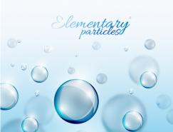 蓝色立体球形矢量素材