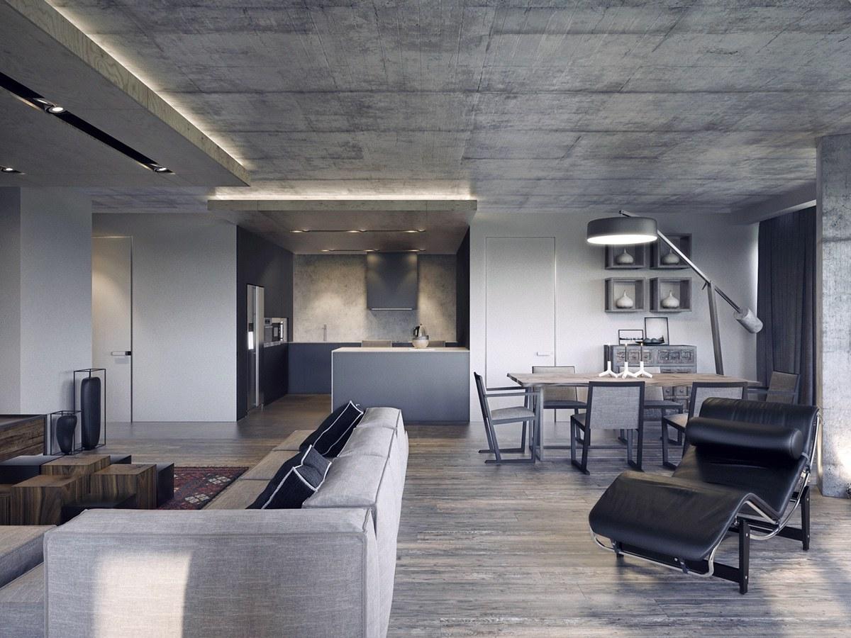 4个沉稳大气的黑色客厅设计 设计之家