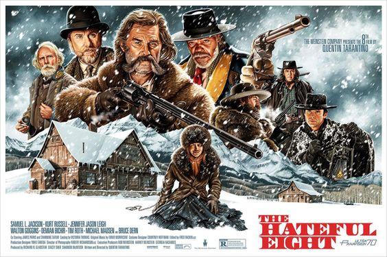 八恶人(The Hateful Eight)电影海报设计