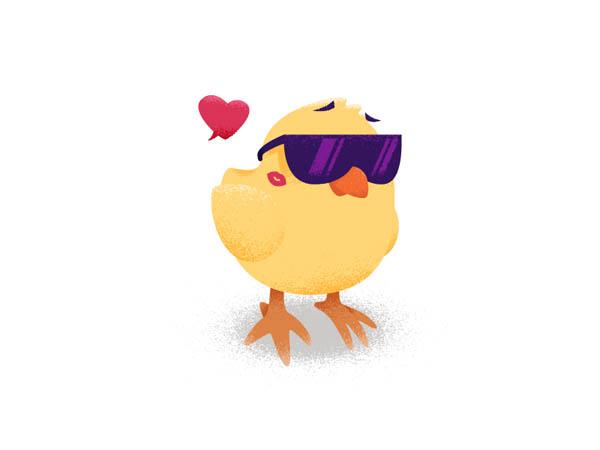 35张可爱卡通鸡的插画欣赏(3)