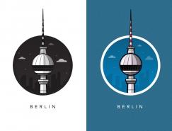 Al Power欧洲城市标志性建筑插画欣赏