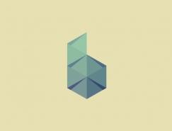 37款折紙和折疊效果logo設