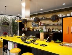 20个亮丽的黄色系厨房设计
