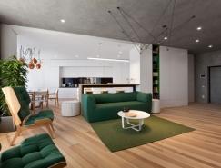 基辅高对比度的极简公寓设计