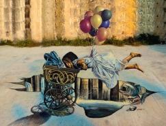 Vera Bugatti逼真立体感的街头艺术作品