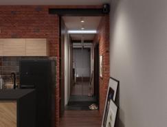 複古工業風格43平米小公寓