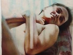 Marcos Beccari柔软和感性水彩肖像插画欣赏
