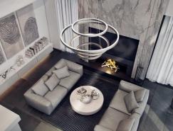 4个大气沉稳的灰色调家装设计欣赏