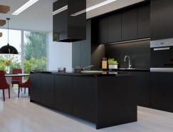 36个时尚黑色厨房设计