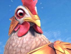 35张可爱卡通鸡的插画欣赏
