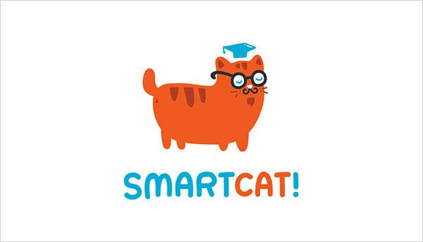 可爱猫咪主题logo设计欣赏