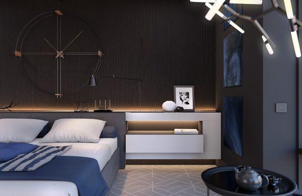 40个漂亮的黑白色卧室设计