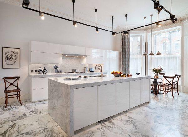 36个大理石装饰的豪华厨房欣赏