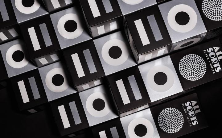 Allsorts糖果黑白包装设计