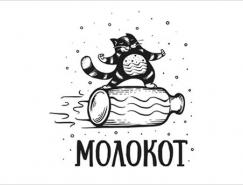 可愛貓咪主題Logo設計欣賞